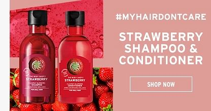 Strawberry shampoo and conditioner
